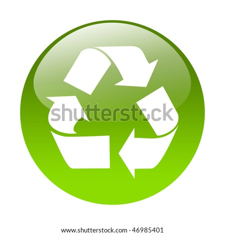 Recycling button - stock photo
