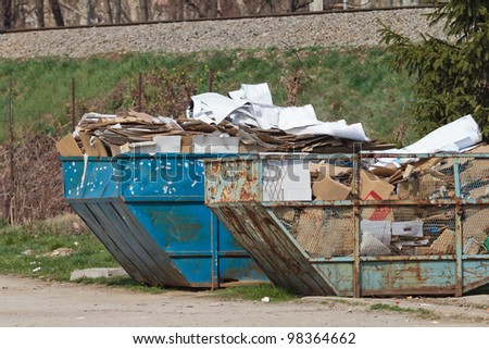 Recycling paper - stock photo