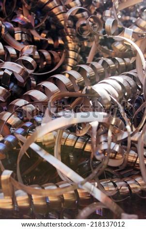 Recycling swarf - stock photo
