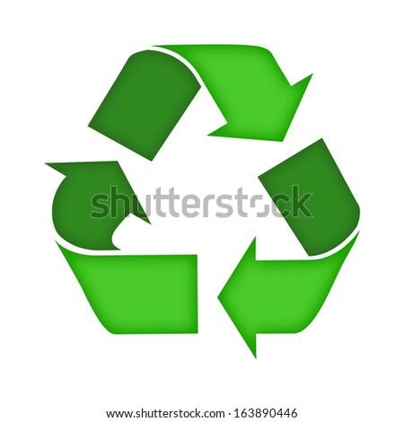 Recycling symbol. - stock photo