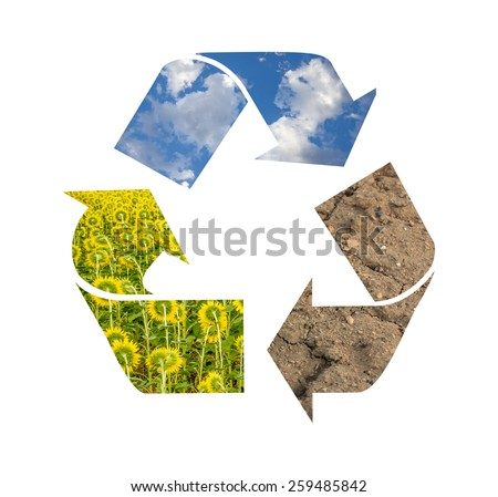 Recycling symbol - stock photo