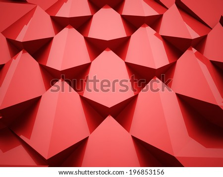 Red abstract background rendered - stock photo