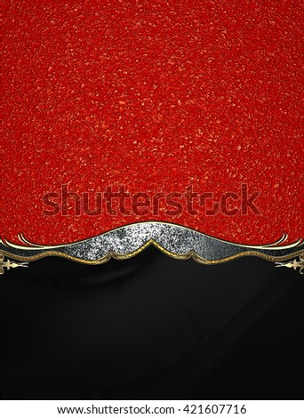 Red abstract background with black bottom and antique decoration. Template for design. copy space for ad brochure or announcement invitation, abstract background.