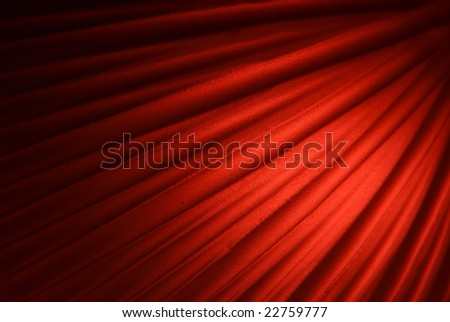 Red abstract background with curved lines - stock photo