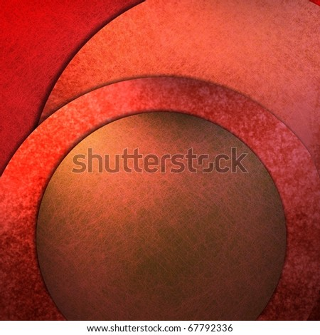 red abstract background with graphic art design layout, circles, texture, lighting, and copy space to add your own text, title, image, or photo - stock photo