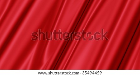 red abstract background with soft silk or textile for fashion,texture,industry or clothing designs - stock photo