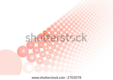 Red abstract balls large background over white with copyspace - stock photo