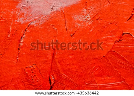 Red abstract brush stroke daub background oil paint, textured acrylic art abstract painted background.  - stock photo