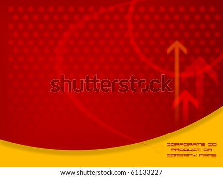 Red Abstract Design artwork,  Design  template ready for web page design, brochures, books, banners, stationary or Press Kits - stock photo