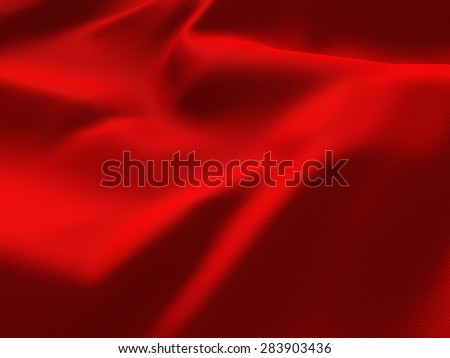 Red Abstract Silk Satin Cloth Background. 3d Render Illustration - stock photo