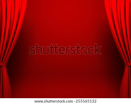 Red act drape - stock photo
