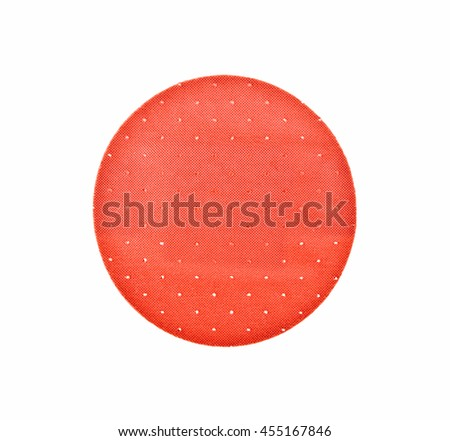 Red adhesive plaster on a white background - stock photo