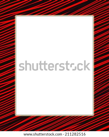 Red and black digital frame. Add your text in the white field. - stock photo