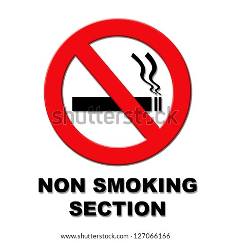 Red and black non smoking illustration on white background
