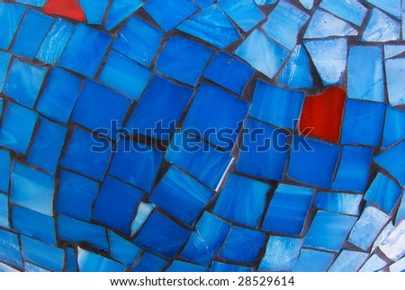 red and blue abstract mosaic background