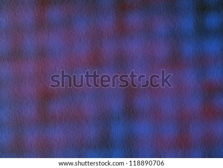 Red and Blue Blind Reflection Background - stock photo