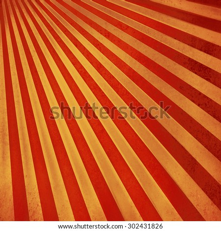 red and gold retro sunburst background pattern - stock photo