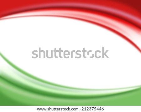 Red and green color background ready for your text, Modern Mexico - Italy background - stock photo