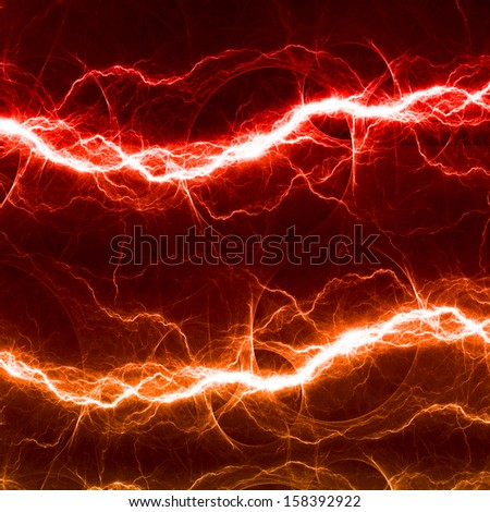 Red and orange fantasy lightning