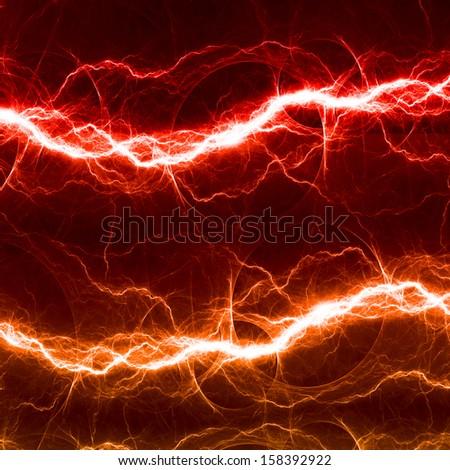 Red and orange fantasy lightning - stock photo