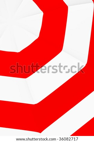 red and white abstract umbrella