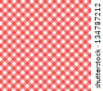 red and white checked background with seamless pattern - stock photo
