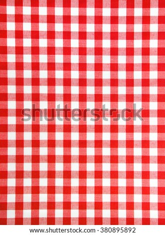 red and white checkered fabric as background texture