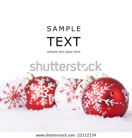 Red White Christmas Ornament Background Selective Stock Photo ...