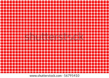 Red and white gingham - tablecloth texture - stock photo