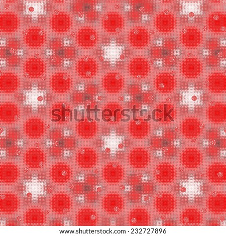 red and White stars  pattern
