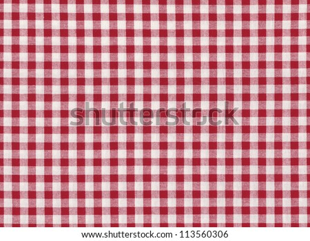 Red and white striped seamless tablecloth background - stock photo