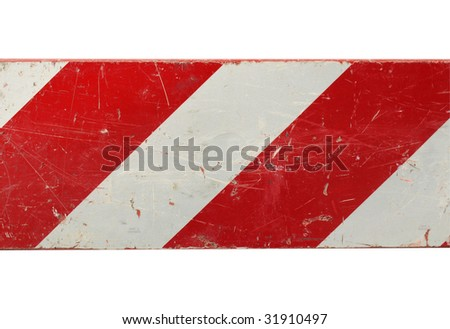 Red and white stripes traffic sign