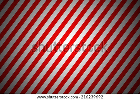 Red and white stripped diagonal junction lines  - stock photo