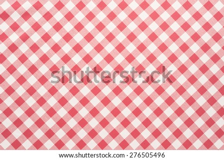 Red and white tablecloth background   - stock photo