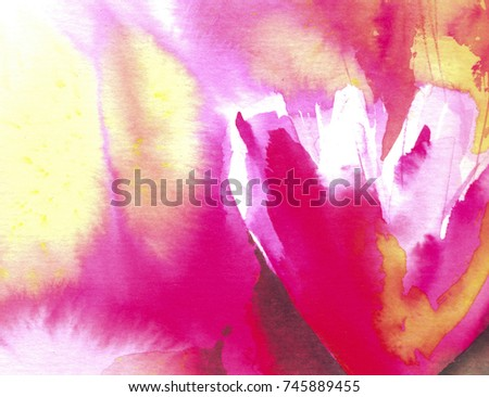 Red yellow abstract flowers song colors stock illustration 745889455 red and yellow abstract flowers the song of colors watercolor handmade illustration mightylinksfo