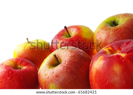 Red and yellow apples - stock photo