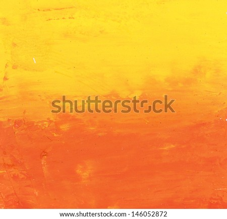 red and yellow watercolor background - stock photo