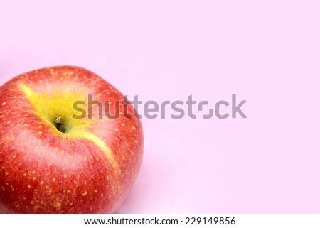 Red apple fruit background. - stock photo