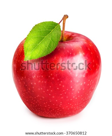 Red Apple Isolated on white background Clipping Path - stock photo