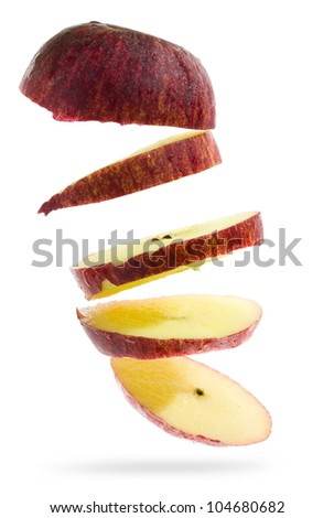 Red apple isolated on white background (Save Paths For design work) - stock photo
