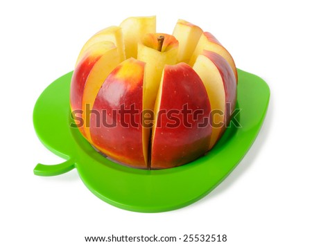 Red apple isolated on white. Clipping path included