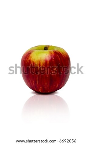 Red Apple Isolated. Red apple on a white background - stock photo