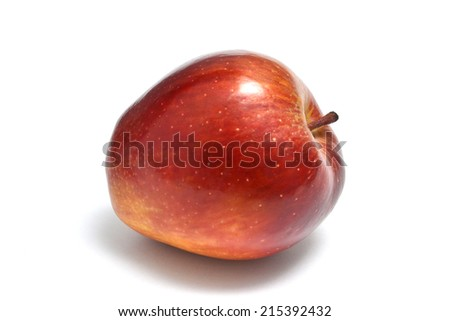 red apple  on white - stock photo
