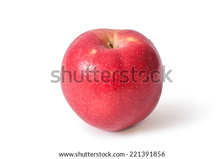 Red apple on white