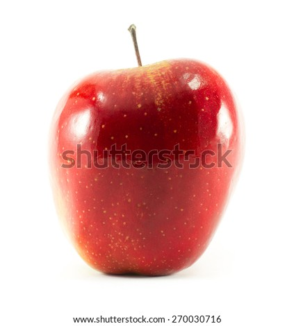 Red apple on white background - stock photo
