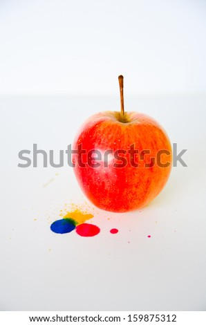 Red apple on white background thailand - stock photo