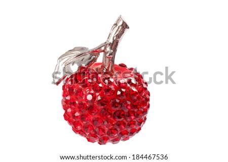 Red apple pendant jewel - stock photo