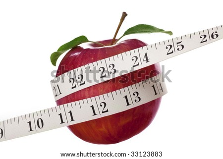 Red Apple with White Tape Measure