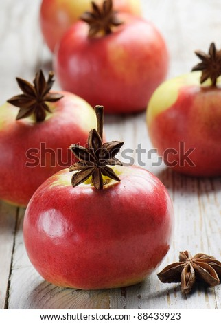 Red apples and spices