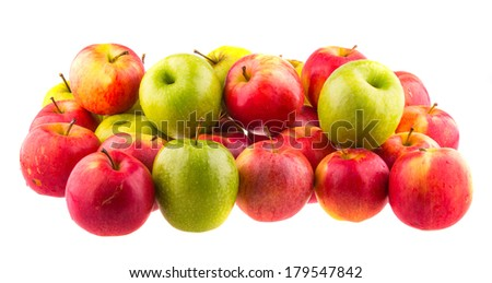 Red apples, isolated on white background. - stock photo
